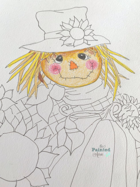 Scarecrow Face The Painted Apron